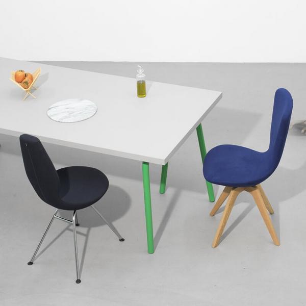 Chaise design ergonomique en tissu et métal - Date Varier® - 12
