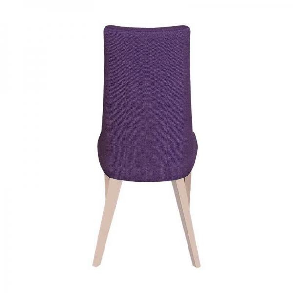 Chaise contemporaine en tissu violet et pieds bois - Park - 6