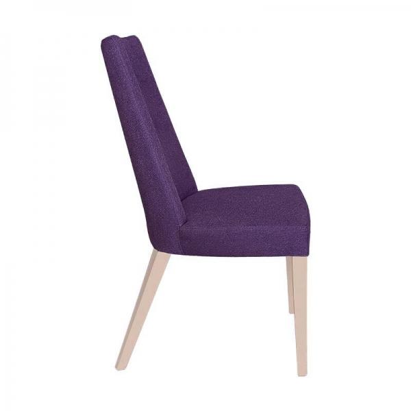 Chaise en tissu violet et pieds bois naturel - Park - 4