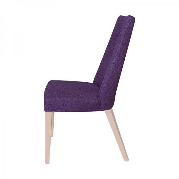 Chaise en tissu violet et pieds bois naturel - Park - 5