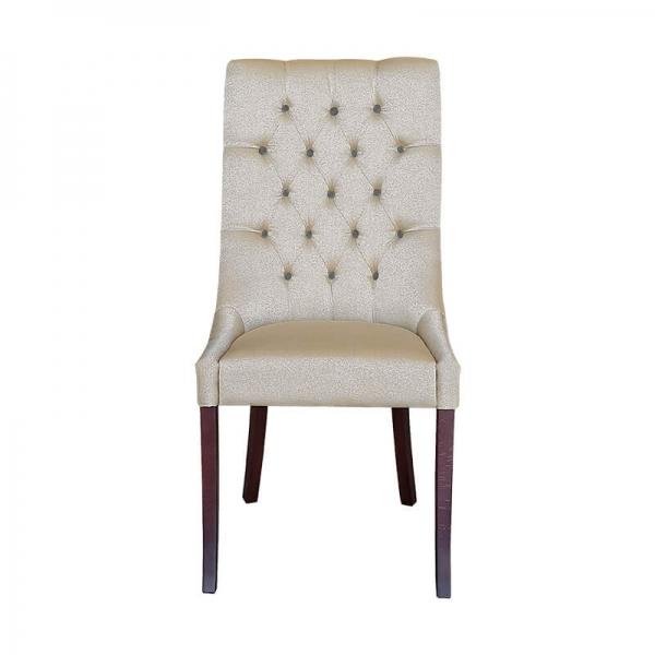 Chaise en tissu matelassée de salle à manger - Carol - 5