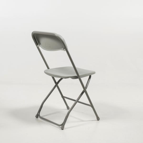 Chaise pliante en plastique et métal - Alex 4 - 4