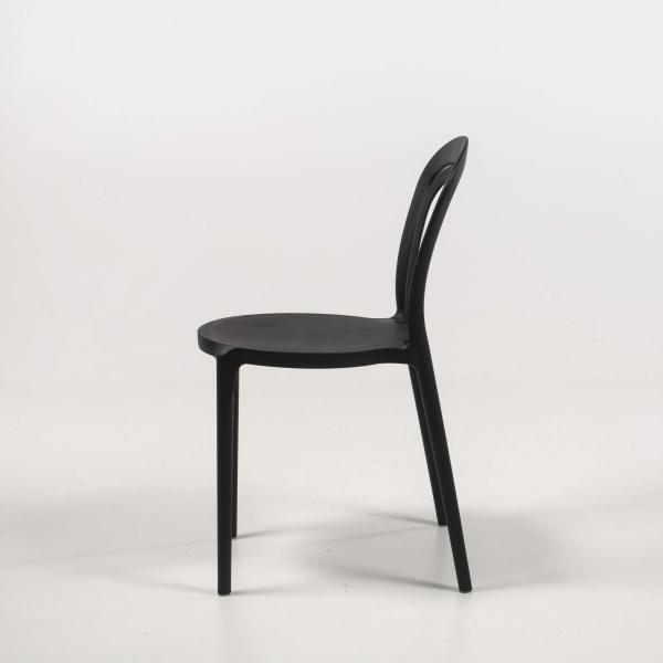 chaise d'extérieur polypropylène noir - Caffè - 14
