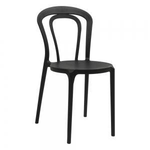 chaise de terrasse en polypropylène noir - Caffè
