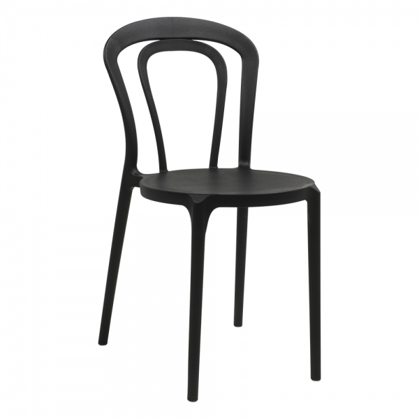 chaise de terrasse en polypropylène noir - Caffè - 10
