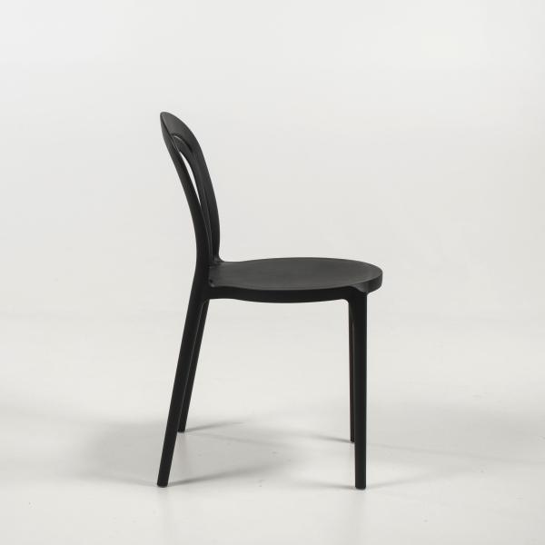 Chaise de cuisine bistrot en polypropylène noir - Caffè Connubia® - 14