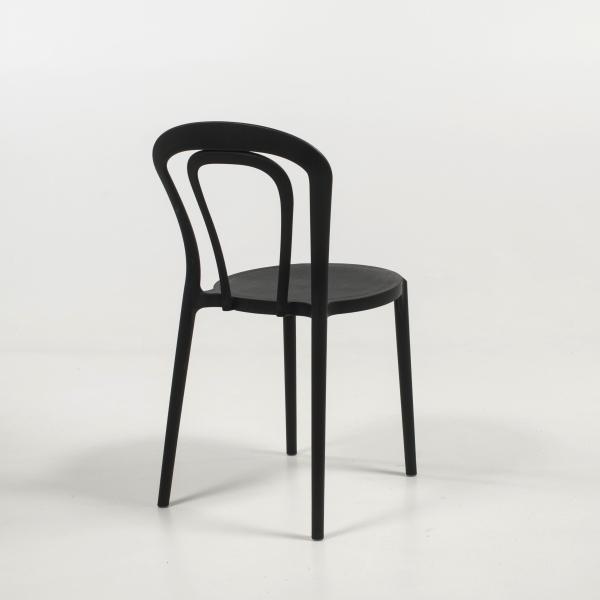 Chaise bistrot en plastique noir - Caffè Connubia® - 16