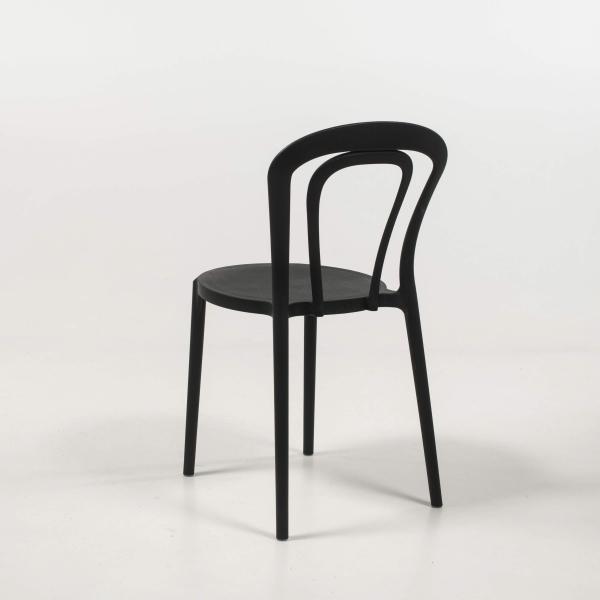 Chaise de cuisine en polypropylène noir - Caffè Connubia® - 17