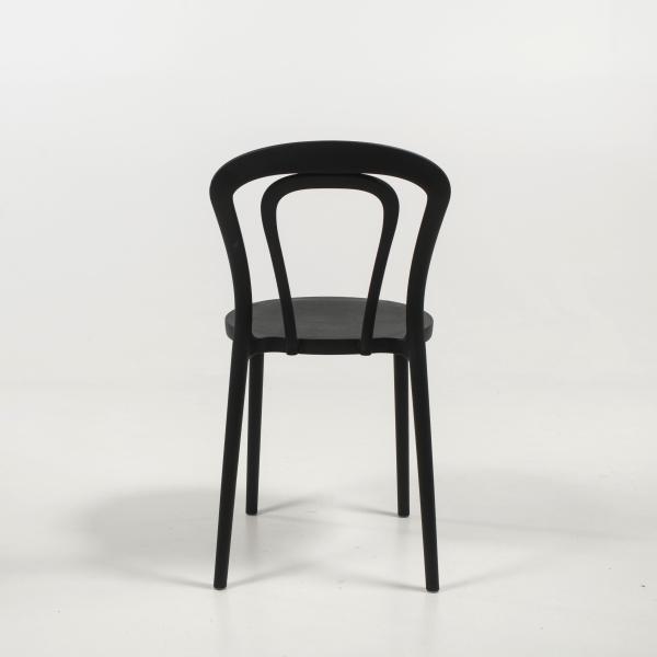 Chaise de cuisine bistrot en polypropylène noir - Caffè Connubia® - 18