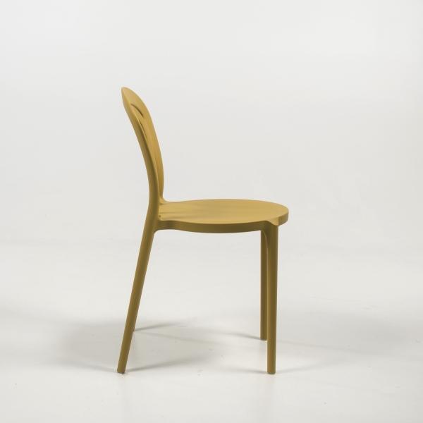 Chaise bistrot jaune moutarde - Caffè Connubia® - 4