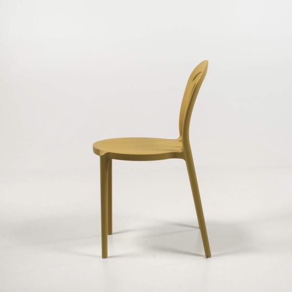 Chaise en polypropylène jaune moutarde - Caffè Connubia® - 5