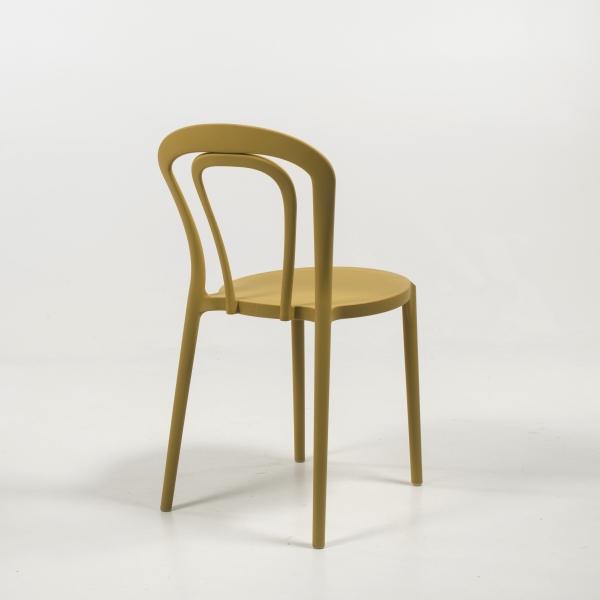 Chaise de cuisine en polypropylène jaune moutarde - Caffè Connubia® - 6