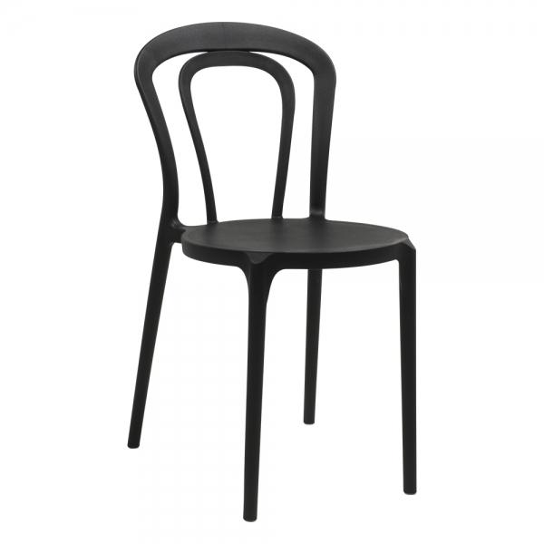 Chaise bistrot en polypropylène noir - Caffè Connubia® - 12