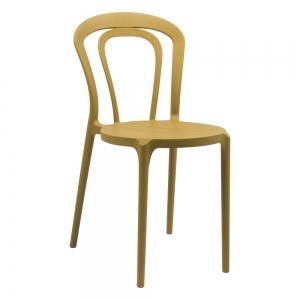 Chaise bistrot en polypropylène jaune moutarde - Caffè Connubia®
