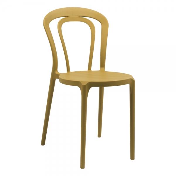 Chaise bistrot en polypropylène jaune moutarde - Caffè Connubia® - 1