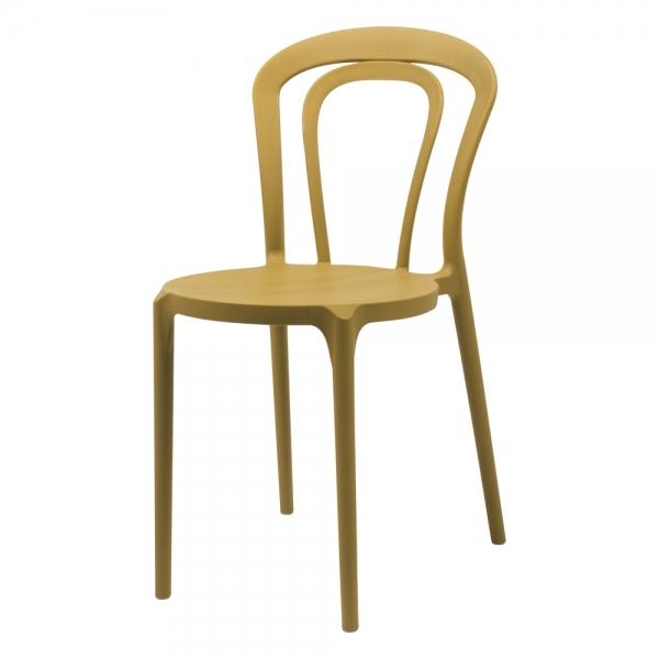 Chaise bistrot en polypropylène jaune - Caffè Connubia® - 2