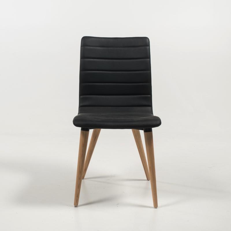 Doris noire scandinave naturel bois Chaise avec pieds uTKclFJ31