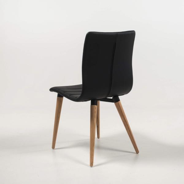 Chaise scandinave noire avec pieds bois naturel Doris | 4 uMN2uA