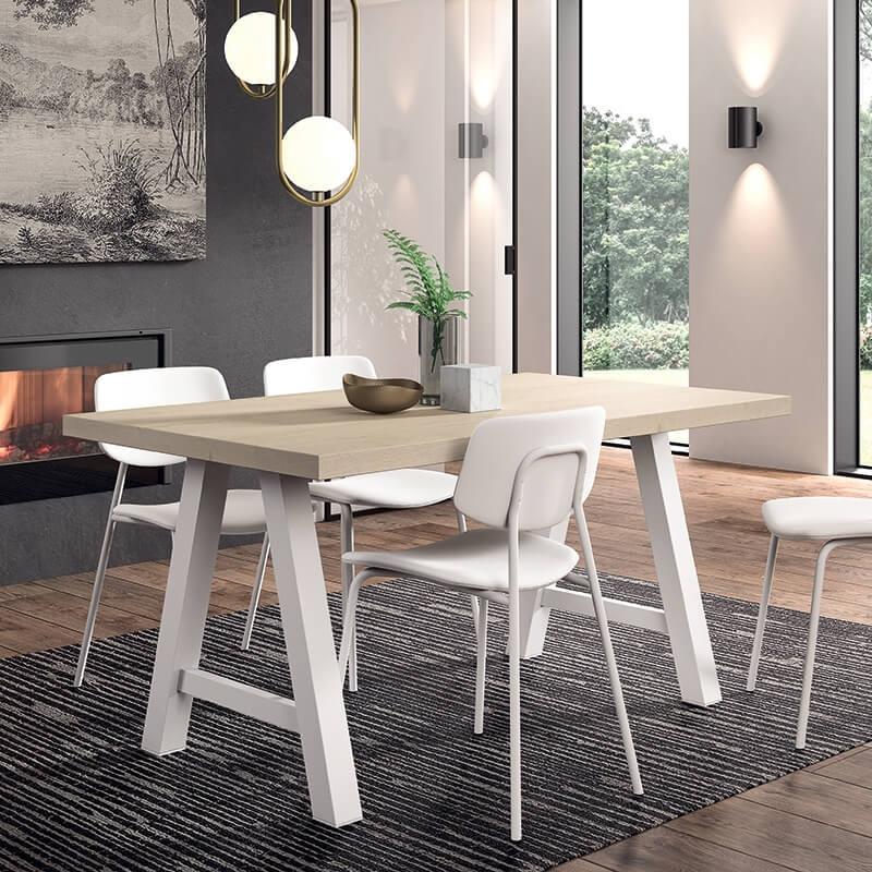 Table moderne de salle à manger en stratifié - Querido