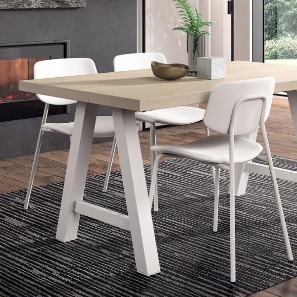 Table moderne de séjour en stratifié - Querido - 2