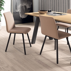 Chaise moderne en métal et synthétique - Pisa