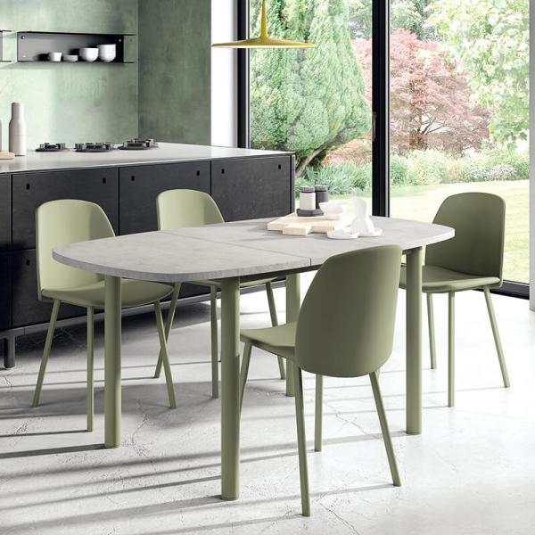 Table de cuisine en stratifié avec allonge - Lustra