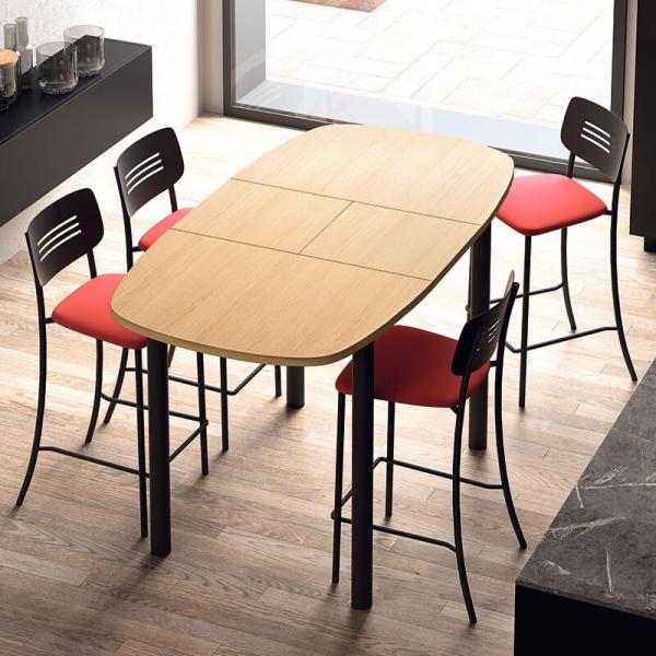 Table snack de cuisine extensible en stratifié - Lustra