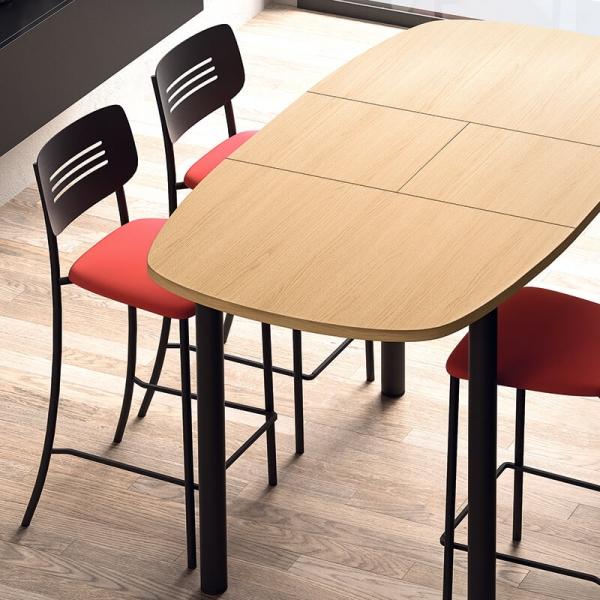 Table hauteur snack de cuisine extensible en stratifié - Lustra - 2