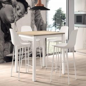 Table snack de cuisine carrée en stratifié - Vienna