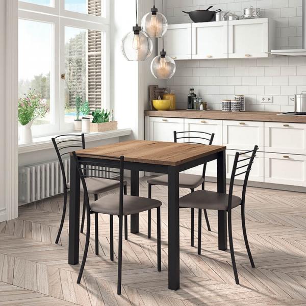 Table de cuisine carrée en stratifié - Vienna - 1