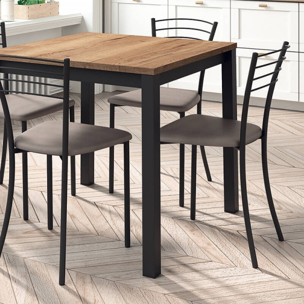 Table de cuisine carrée en stratifié - Vienna - 2