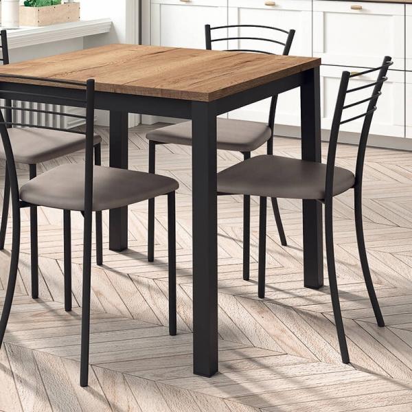 Chaise de cuisine rembourrée en métal - Roma - 3