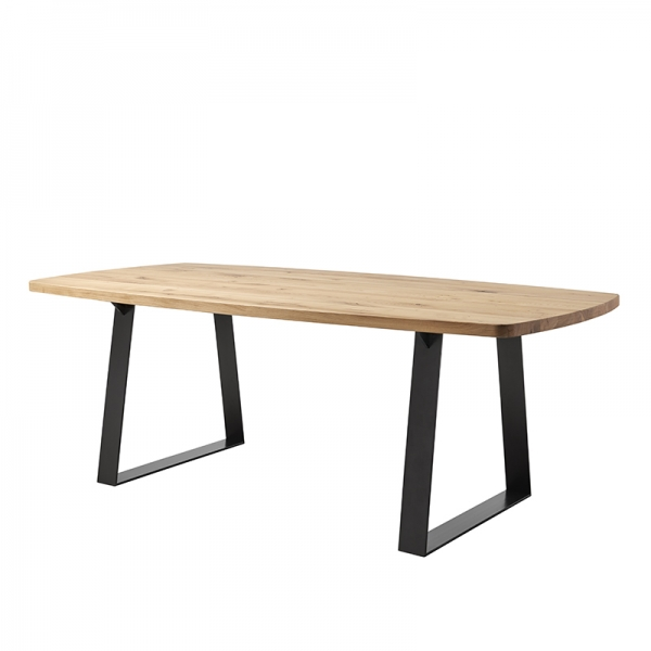 Table de style industriel plateau tonneau - Carte - 1