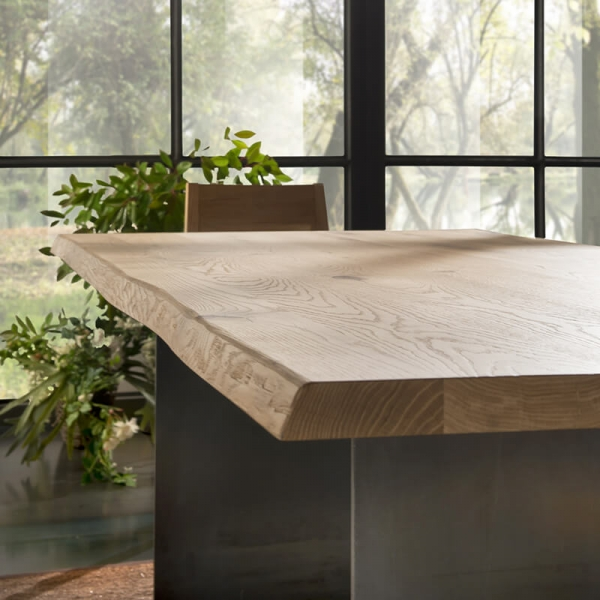Table de salle à manger design bois métal - 14.11 - 2
