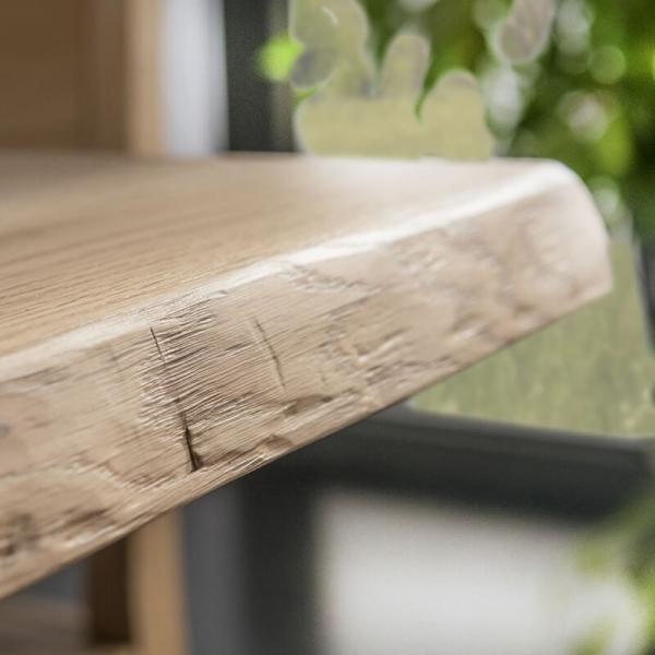 Détail du plateau bois de chêne massif et du chant de table - 14.11 - 8
