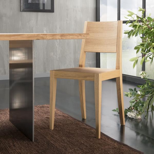 Table design en bois massif et pieds métal - 14.11 - 9