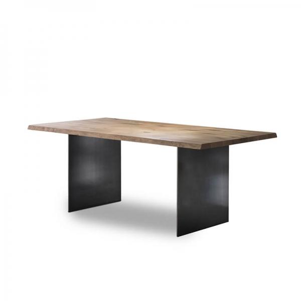 Table italienne en bois massif et métal - 14.11 - 10