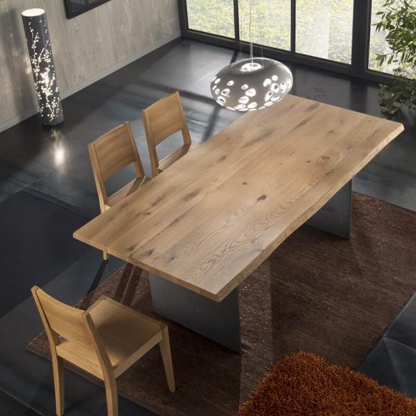 Table design italienne en bois et métal - 14.11 - 11