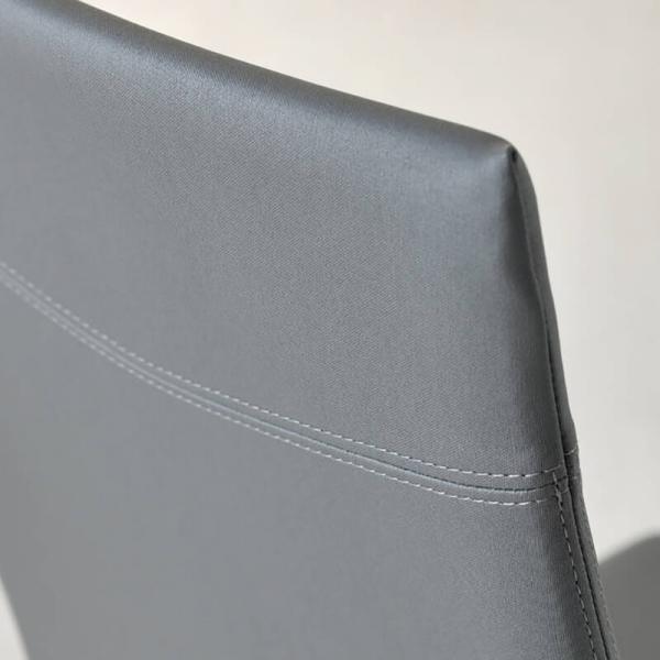 chaise de salle à manger en cuir - 6