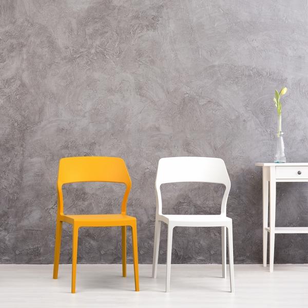 Chaise design en polypropylène empilable - Snow - 2