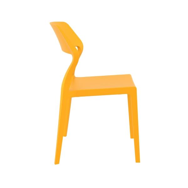 Chaise empilable design en plastique jaune- Snow - 20