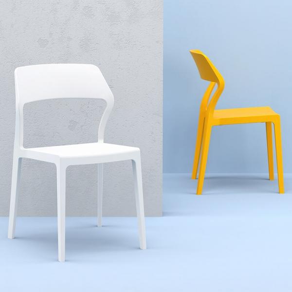 Chaise d'extérieur empilable design en polypropylène - Snow - 3
