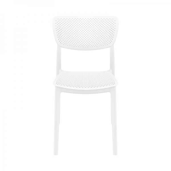 Chaise de terrasse blanche en polypropylène micro perforé - Lucy - 7