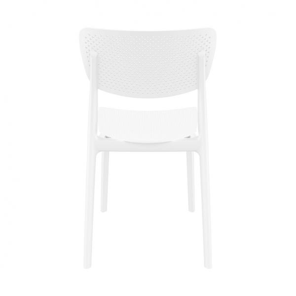 Chaise micro perforée moderne en plastique blanc - Lucy - 6