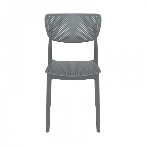 Chaise micro perforée en plastique empilable - Lucy - 14