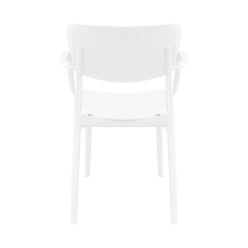 Chaise de jardin micro perforée avec accoudoirs Loft