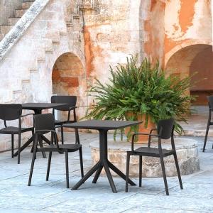 Chaise de jardin en polypropylène micro perforé avec accoudoirs - Loft