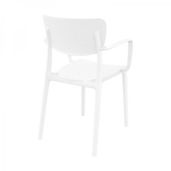 Chaise avec accoudoirs moderne micro perforée - Loft - 7