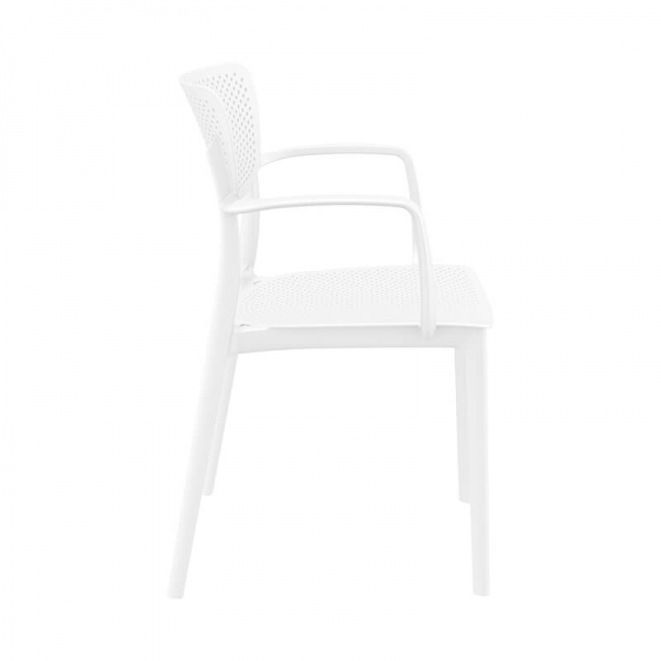 Chaise avec accoudoirs micro perforée- Loft - 9
