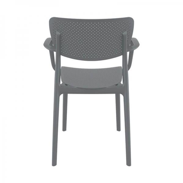 Chaise ajourée grise avec accoudoirs - Loft - 12